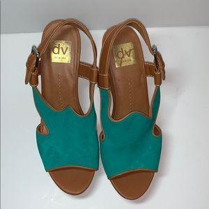 Dolce Vita Teal Wedge Sandal Size 8.5